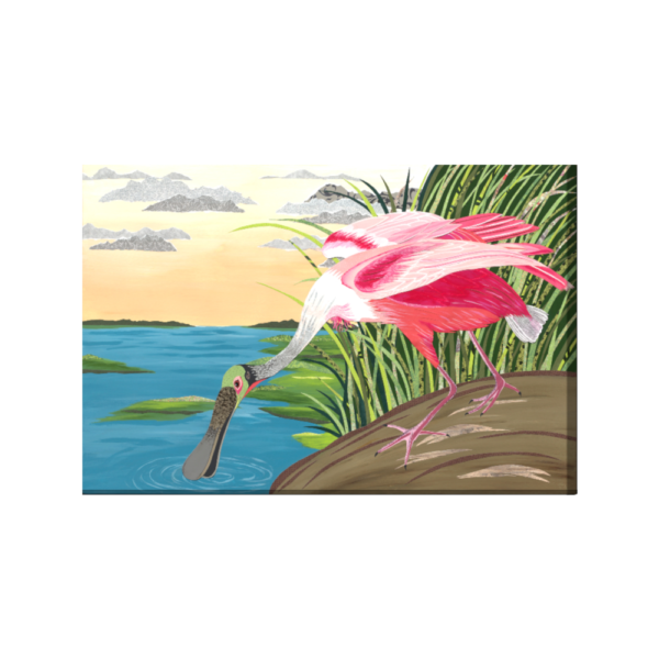 ode to audubon roseate spoonbill 24X36 wrapped